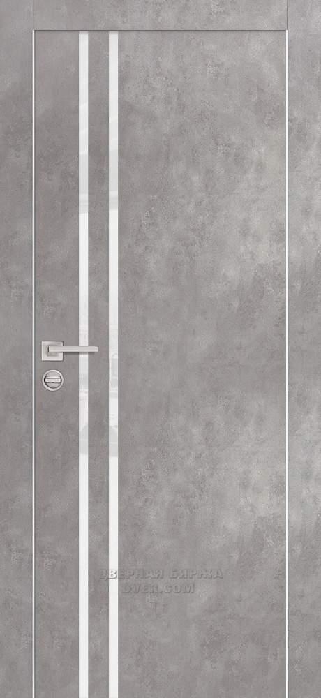 Дверь серый бетон ванная под бетон